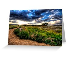 Sun Blast over Granite Mountain-Second Look Greeting Card