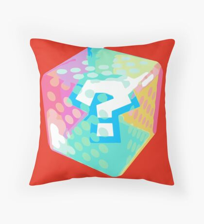 Mario Kart Item Block Throw Pillow