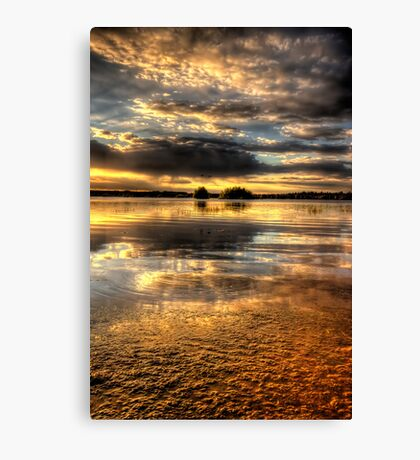 Smooth Sunset-Second Look Canvas Print