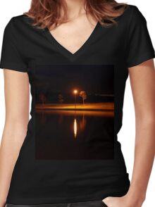 Light Up The Darkness Women's Fitted V-Neck T-Shirt