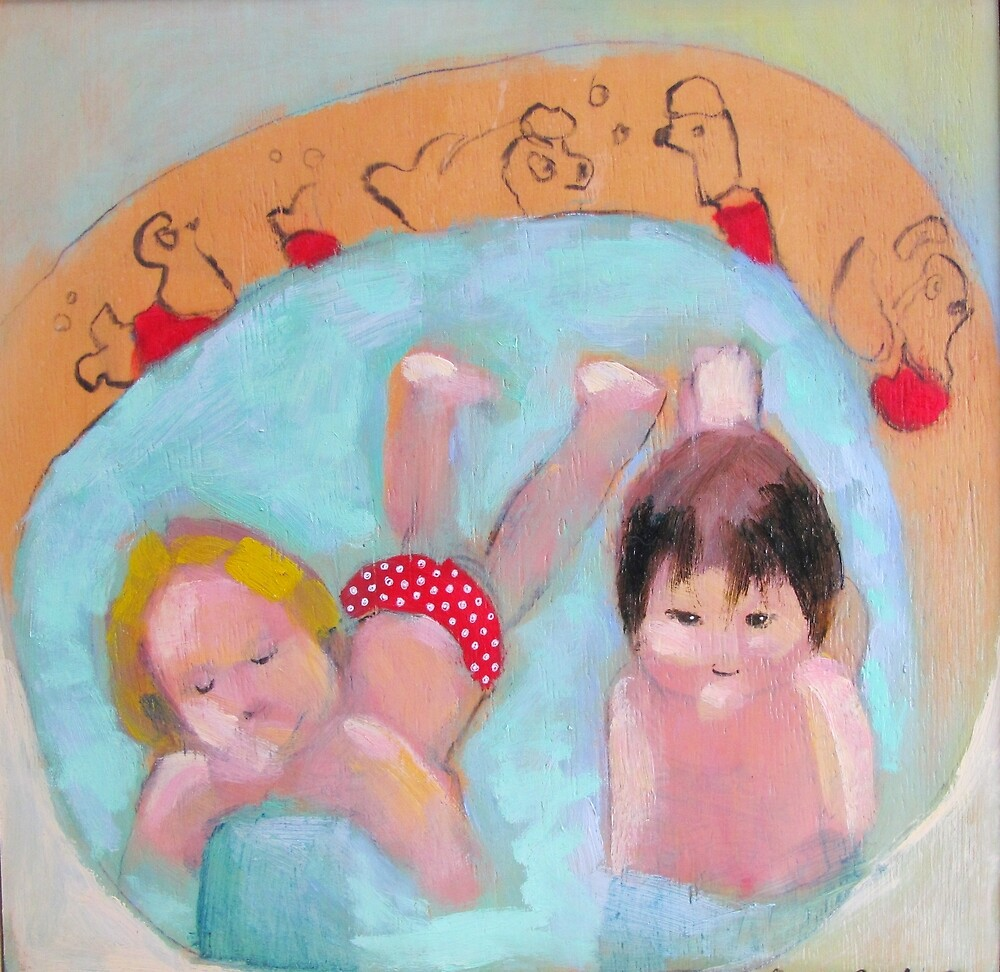 wading pool with polka dots by donna malone