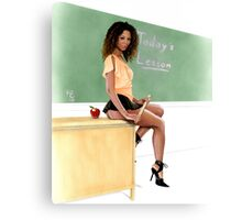 Today's Lesson Canvas Print