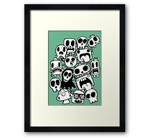 Doodle Characters Framed Print