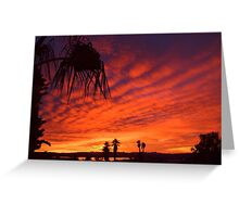 Christmas Eve Sunset Greeting Card