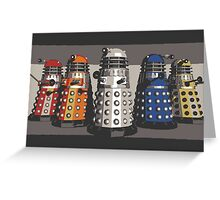 5 Shades of Dalek Greeting Card