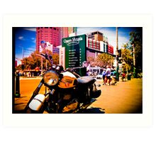 Cruiser Bike in the middle of the market Art Print