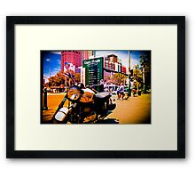 Cruiser Bike in the middle of the market Framed Print