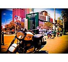 Cruiser Bike in the middle of the market Photographic Print