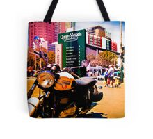 Cruiser Bike in the middle of the market Tote Bag