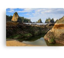 Low Tide at the Arches Canvas Print
