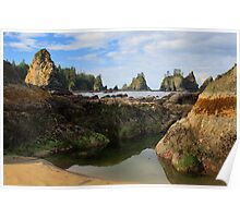 Low Tide at the Arches Poster