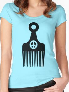 Afro Hair Peace Women's Fitted Scoop T-Shirt