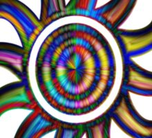 Psychedelic Sun Sticker