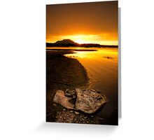 Rocks in Front, Sun in Back-Second Look Greeting Card