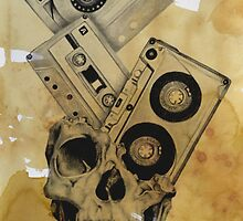 Skull Mix Cassette Tapes by philspaulding