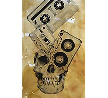 Skull Mix Cassette Tapes Photographic Print