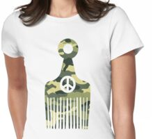 Afro Hair Peace Womens Fitted T-Shirt