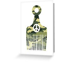Afro Hair Peace Greeting Card