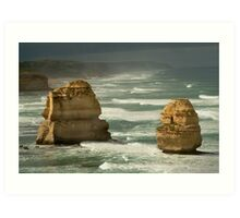 Dark Skies,Twelve Apostles,Great Ocean Road Art Print