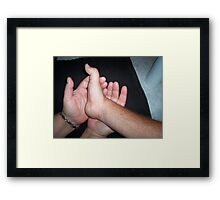 The hands of love Framed Print