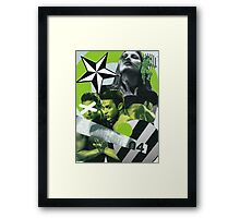 Consumable Goods (Green) Framed Print