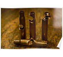 .30 Caliber shells, hit by .30 Caliber Bullets Poster