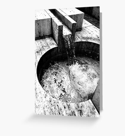 The Water Flows  Greeting Card