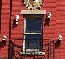 Gargoyles and Balcony, Auburn, New York by Frank Romeo