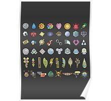 All The Gym Badges! Poster
