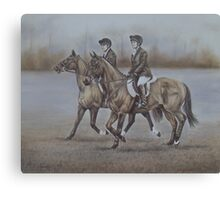 Off to the Meet Canvas Print