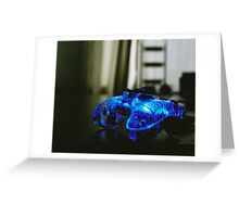 Blue Neon Controller  Greeting Card
