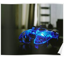 Blue Neon Controller  Poster