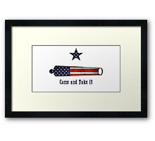 Come and Take - American Flag Framed Print