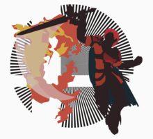 Roy (Smash 4, Red & Orange) - Sunset Shores One Piece - Short Sleeve