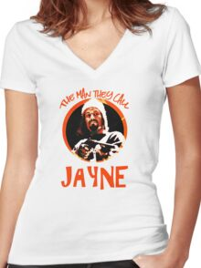 The Man They Call Jayne Women's Fitted V-Neck T-Shirt