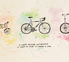 I want to ride my bicycle by coughskii