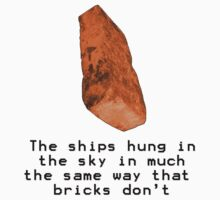 Ships hung in the Sky - the way bricks don't by wolfcat