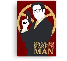 Manners Maketh Man - Galahad Canvas Print