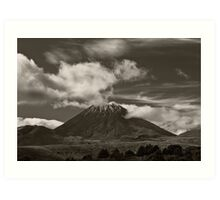 Mt. Ngauruhoe - New Zealand ... aka Mt. Doom - Middle Earth Art Print