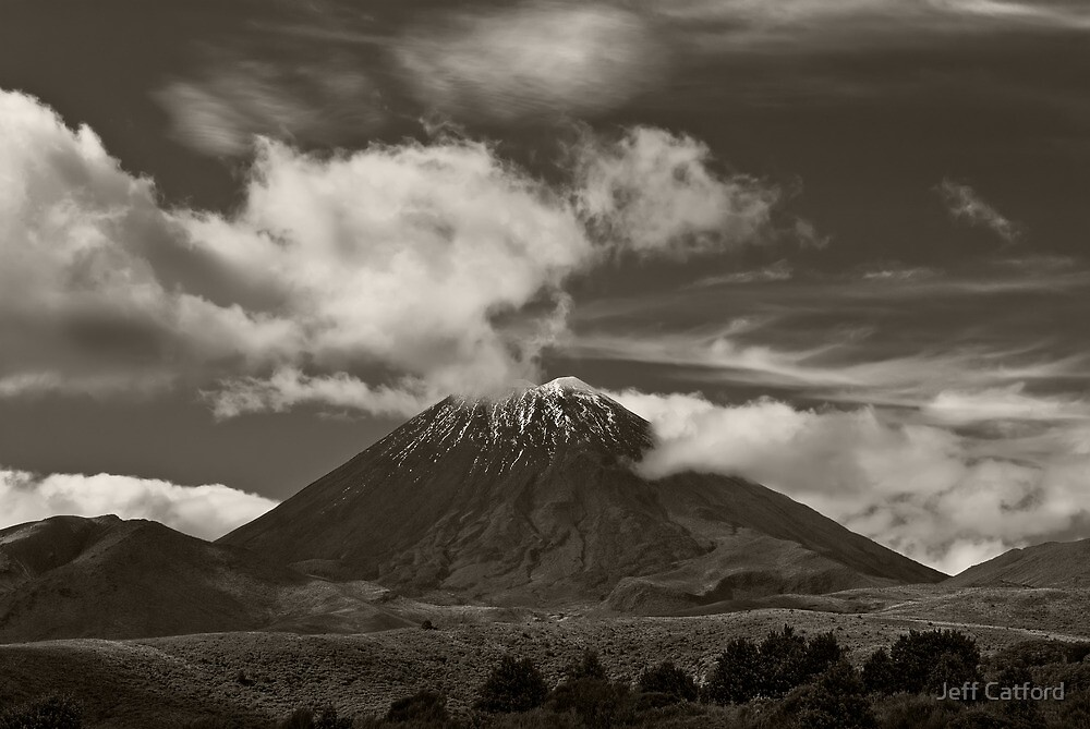 Mt. Ngauruhoe - New Zealand ... aka Mt. Doom - Middle Earth by Jeff Catford