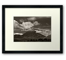 Mt. Ngauruhoe - New Zealand ... aka Mt. Doom - Middle Earth Framed Print
