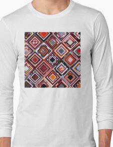 Test Pattern (Orange) Long Sleeve T-Shirt