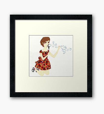 i love you Framed Print