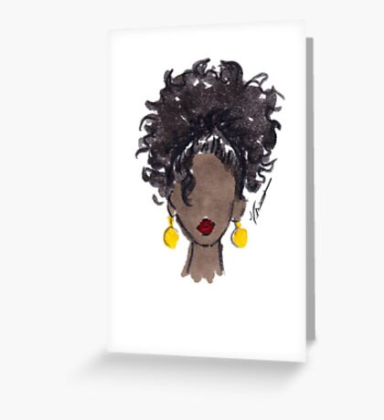 How To Be Curly Three Greeting Card