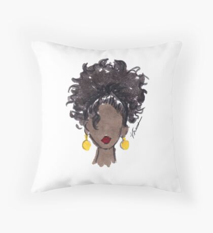 How To Be Curly Three Throw Pillow