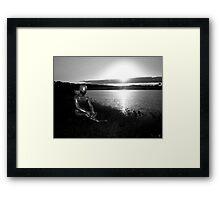 Lakeside Alien Framed Print