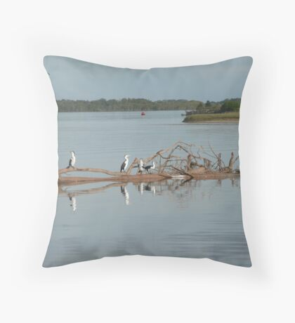 Gannets on Floating Debris. Throw Pillow