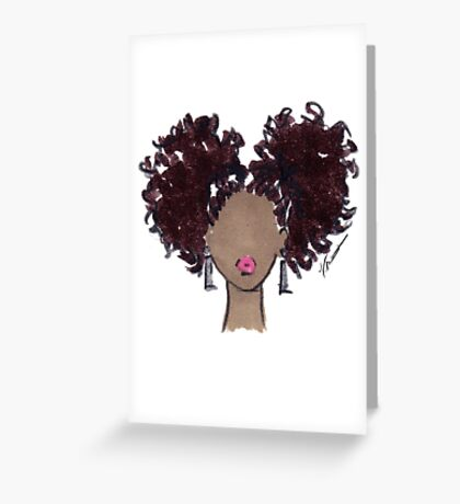 How To Be Curly Two Greeting Card