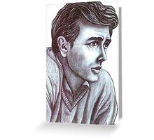 James Dean celebrity portrait Greeting Card