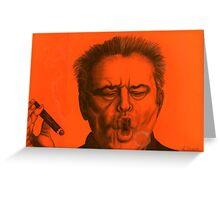 Jack Nicholson celebrity portrait Greeting Card